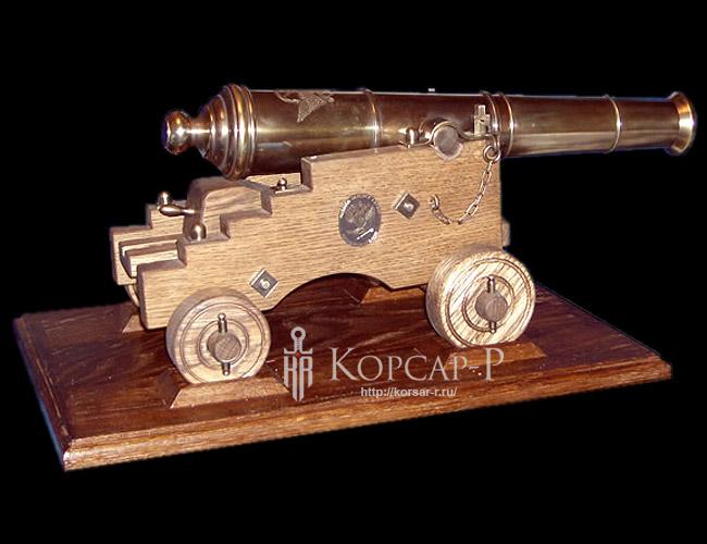 Корабельная 3-х фунтовая пушка. Образец середины XVIII в.