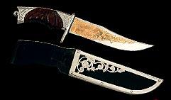 Нож охотничий украшенный  КЛЫК