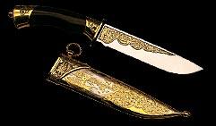Нож охотничий украшенный  ДИЧЬ  .