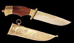 Нож охотничий украшенный  ГОНЧИЕ  . (таежный)