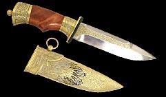 Нож охотничий украшенный  КРЕСТОНОСЕЦ  (спас-1).