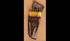 Колчан кожаный для арбалетных стрел