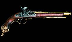 Пистоль итальянский, Брешиа, 1825г. , латунь
