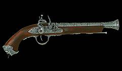 Пистоль итальянский, 18 век, хром