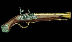 Пистолет-мушкетон. Лондон XVIIIв. Латунь.