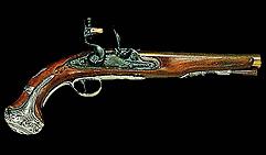 Пистолет кремниевый. Англия XVIIIв.