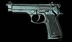 Пистолет  Беретта 92F  , калибр 9 мм.