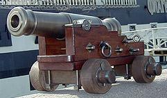Корабельная 1 фунтовая пушка. Образец 1780 г.