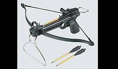 Арбалет-пистолет пластиковый. 3 алюмин. стрелы, Упор.