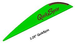 Оперение для стрел Quikspin 2, 25  . 100шт/уп