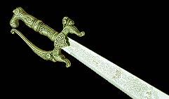 Арабский кривой меч, серебро