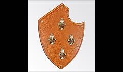 Настенный щит с гербом Четыре лилии, оранж.