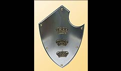 Настенный щит с гербом Три короны, серый
