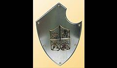 Настенный щит с гербом, серый