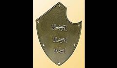Настенный щит с гербом Три льва, коричневый.