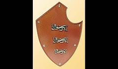 Настенный щит с гербом Три льва, оранжевый.
