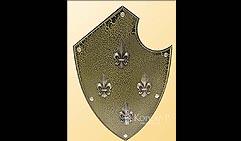 Настенный щит с гербом Четыре лилии, коричневый.