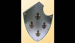 Настенный щит с гербом Четыре лилии, серый