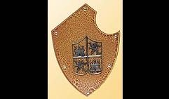 Настенный щит с гербом, оранжевый.