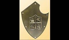 Настенный щит с гербом, коричневый.