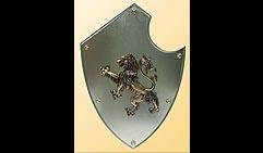 Настенный щит с гербом  Лев  , серый