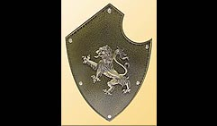 Настенный щит с гербом  Лев  , коричневый