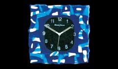 37 Часы настенные MURANO FUSO. Синее стекло.