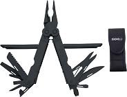 Нож-инструмент  Power Lock  черн. , стропорез, чех. черн. нейлон