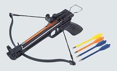 Арбалет-пистолет, 50Lbs, приклад и ствол алюм, 5 пласт. стрел, без упора