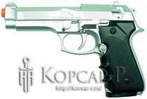 Модель пневматич. air-soft пистолет ELITE, утяжеленный, серебр