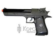 Модель пневмат. air-soft пистолет ISRAEL EAGLE, черный, утяжеленный