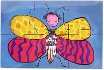Паззл магнитный  Бабочек