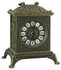 Часы каминные  Ларец  , под бронзу