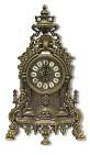 Часы каминные  Барокко  под бронзу
