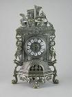 Часы прикаминные  Ангелы  фасадные, под бронзу
