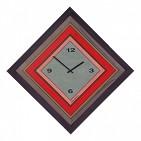 315 Часы настенные Цветная Мозаика, дерево, 73х73см
