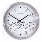 540B Часы настенные  5 В 1  алюминий, d. 55см белые