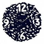 55 black Часы настенные  Fuso  , муран. стекло, черные