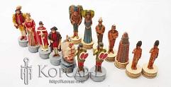 R73713 Шахматные фигуры  Христофор Колумб  , 8 см