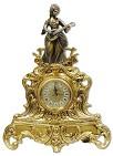 Часы каминные  Дама с лютней