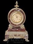 Часы Дидро мрамор, патина
