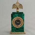 Часы  Александр  малахит.