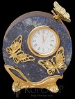 Часы Бабочки лазурит, зол.