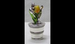 Шкатулка Тюльпаны в горшочке