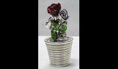 Шкатулка Розы в горшочке
