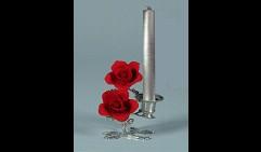Подсвечник Две розы на стебле