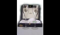 Набор свадебных бокалов под шампанское Кольца