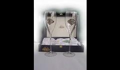 Набор свадебных бокалов под шампанское Голуби