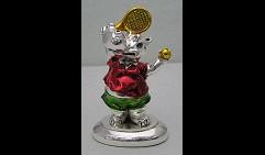 Скульптура Бегемот теннисист