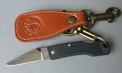 Нож  MultiHolder  , ст. 6A, рук. рез. черн, брел.